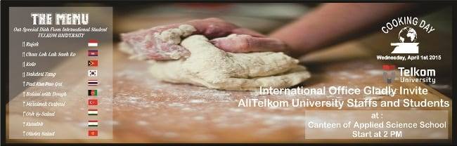 International Office presents: International Cooking Day on April 1st, 2015