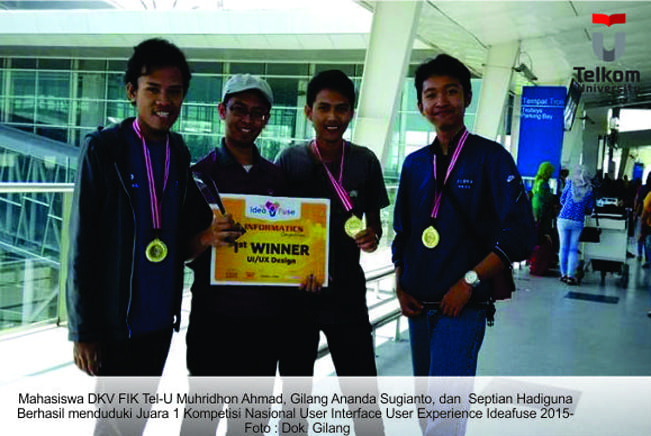 Again, Creative Industry Students Get First Winner in National User Interface Experience Ideafuse Competition 2015