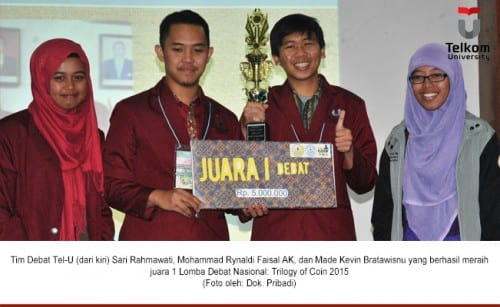 Inferior, Tel-U team became a Champion of National Debate Competition: Trilogy of Coin 2015