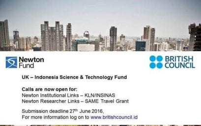 Newton Fund Proposal Calls 2016 are Now Open