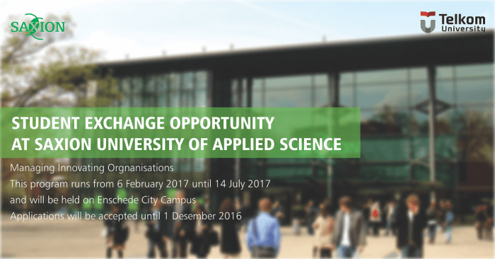 Saxion Student Mobility Opportunities on Spring Semester
