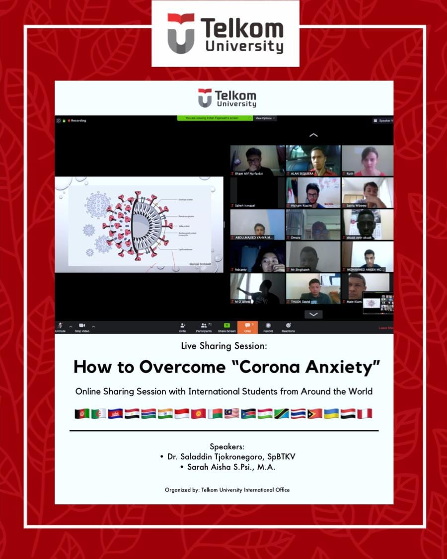 """Live Sharing Session Eps. 2: How to Overcome """"Corona Anxiety"""""""