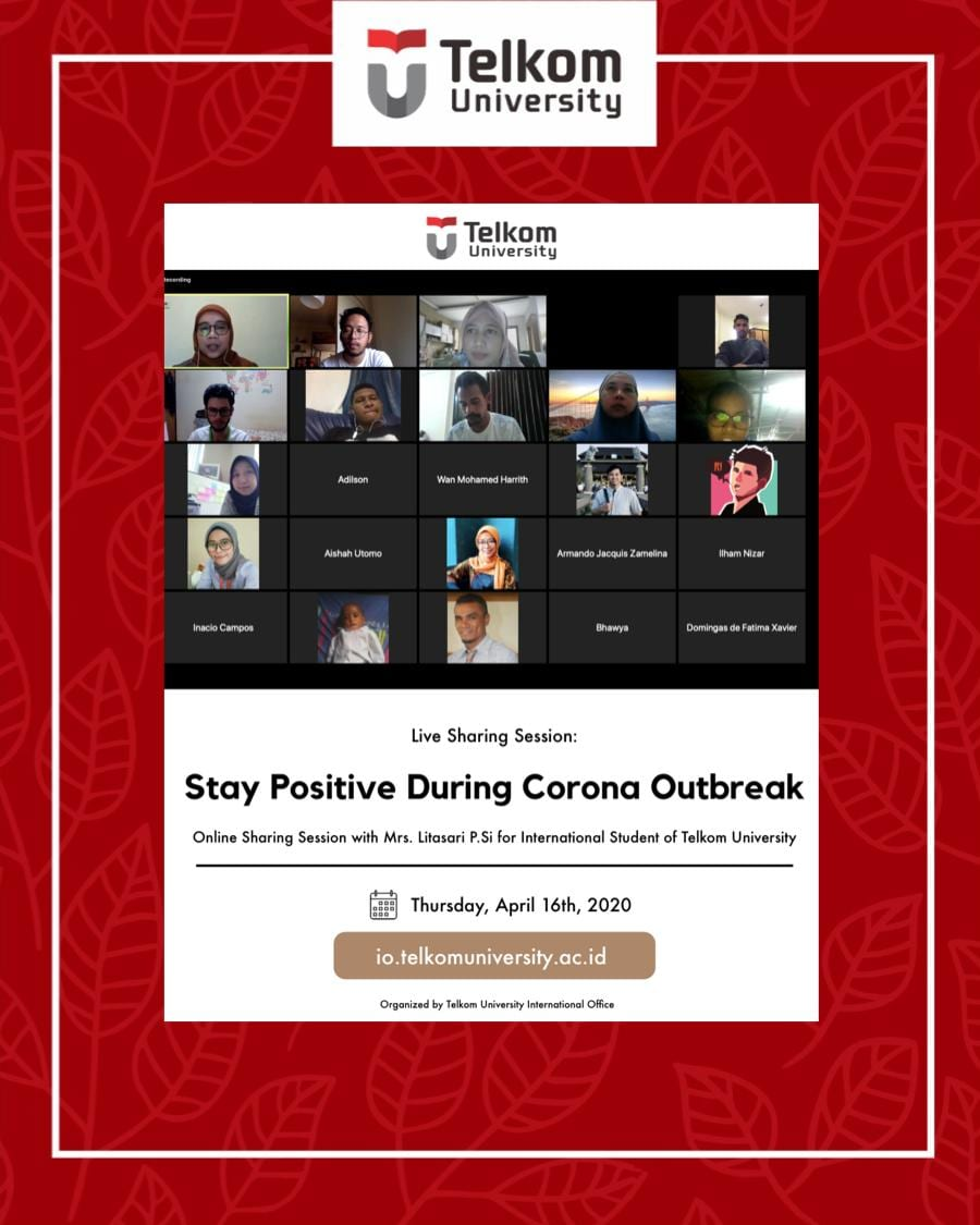 Live Sharing Session Eps.3: Stay Positive during Corona Outbreak