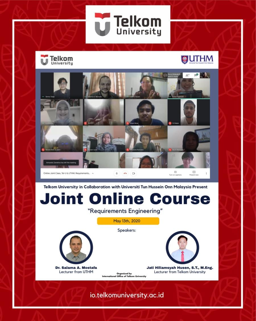 Requirements Engineering, Online Joint Course Telkom University & UTHM: #3
