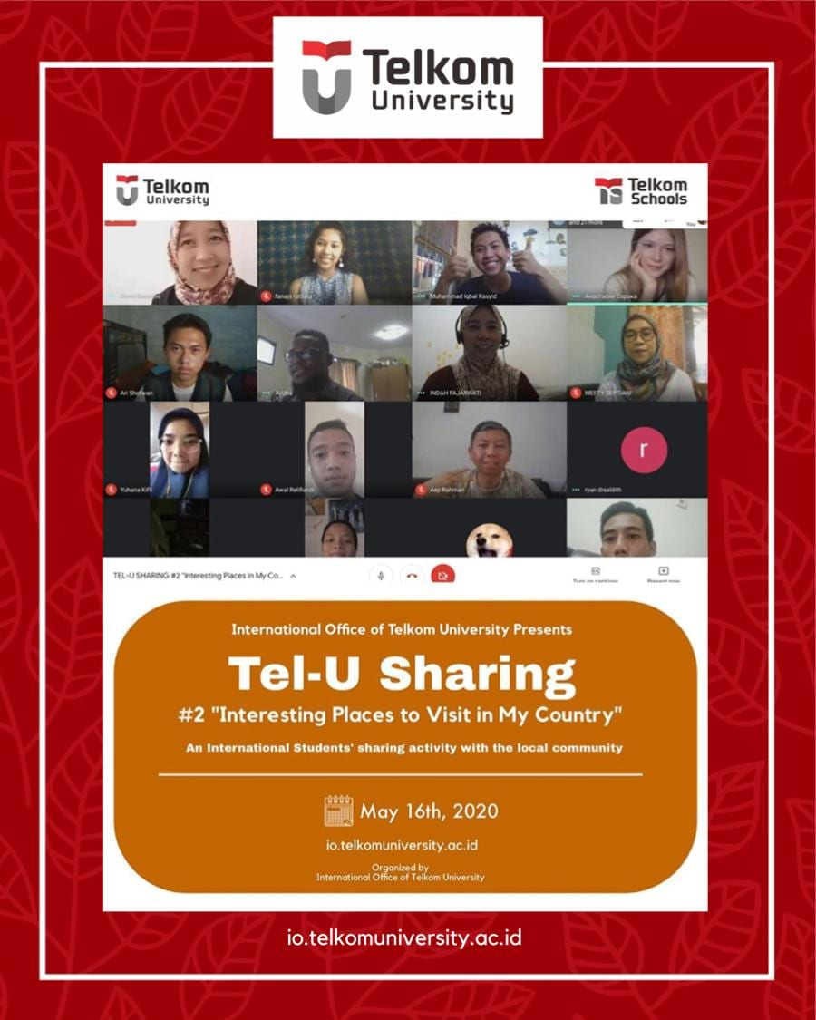 """Tel-U Sharing #2 """"Interesting Places to Visit in My Country"""""""