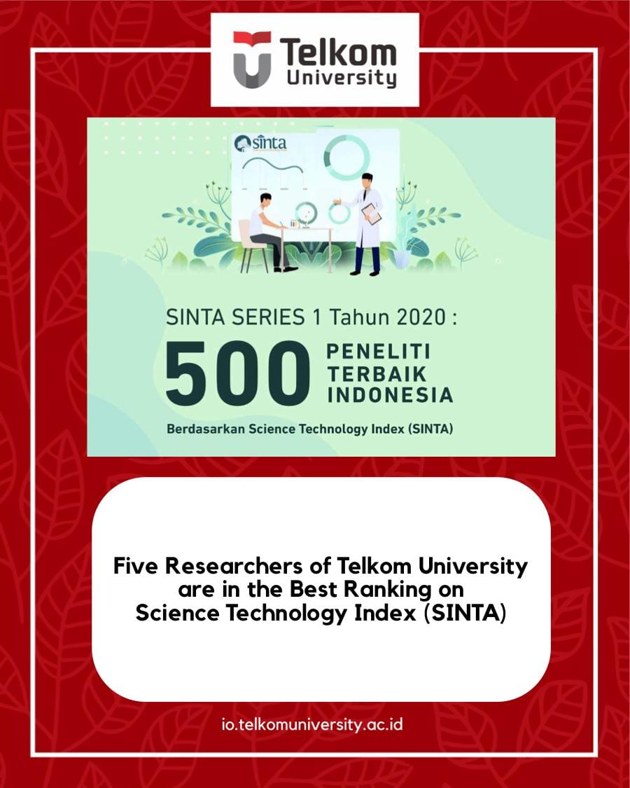 Five Researchers of Telkom University are Named 500 Best Researchers in Indonesia