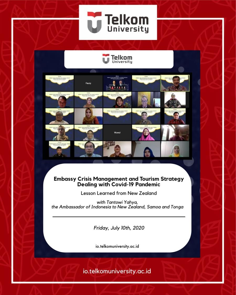 """Webinar: """"Embassy Crisis Management & Tourism Strategy Dealing with COVID-19 Pandemic – Lesson Learned from New Zealand"""""""
