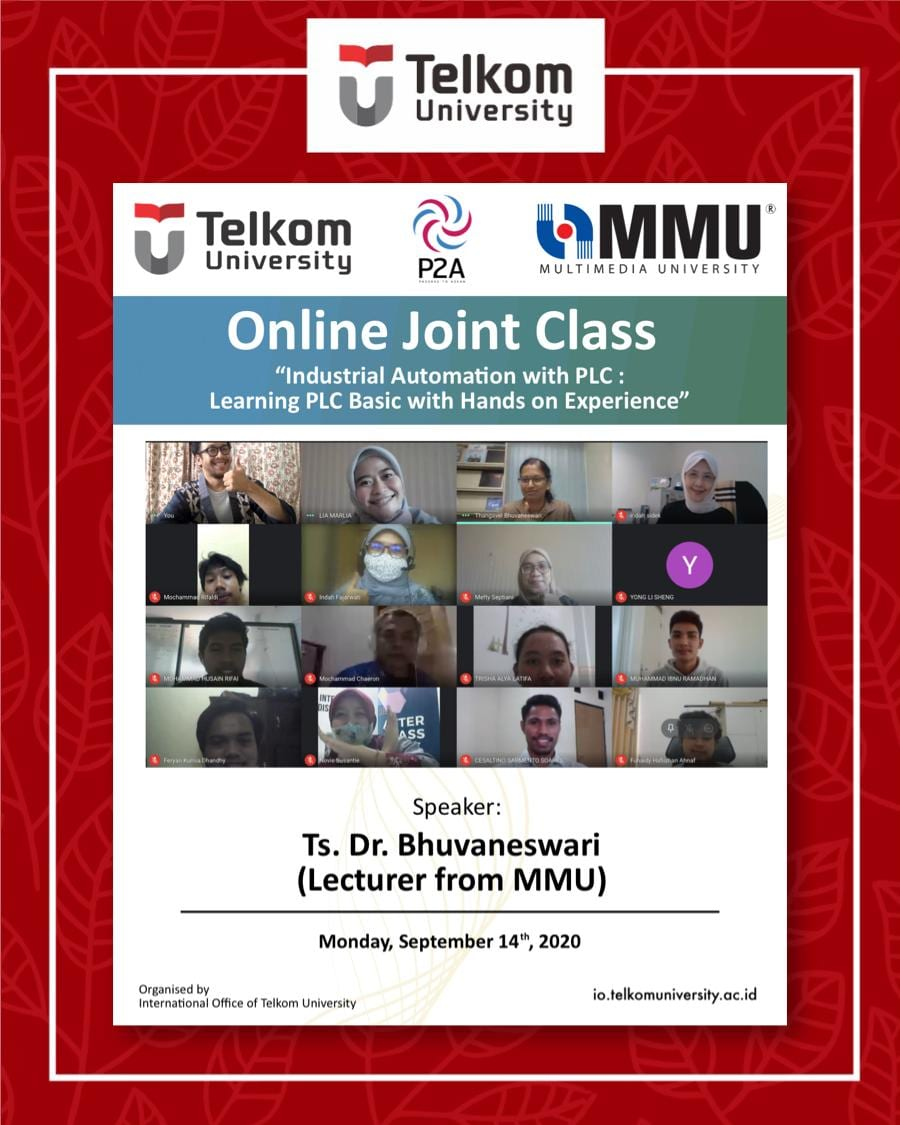 Industrial Automation with PLC: Learning PLC Basic with Hands on Experience, the 14th Online Joint Class Tel-U & MMU