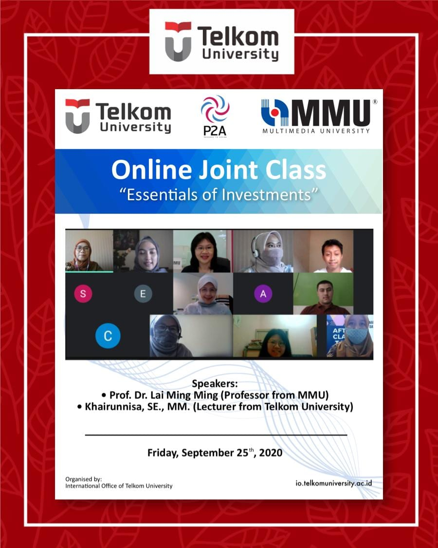 Essentials of Investments, the 17th Online Joint Class Tel-U & MMU