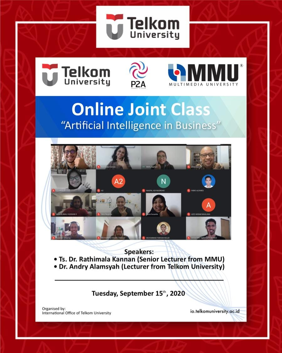 Artificial Intelligent in Business, the 15th Online Joint Class Tel U & MMU