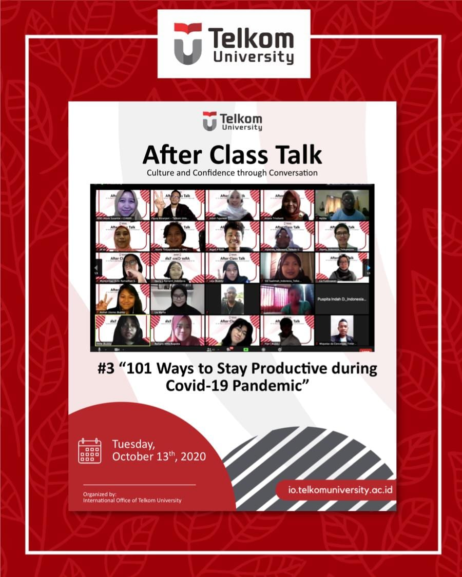 Stay Productive During Pandemic Time, After Class Talk #3