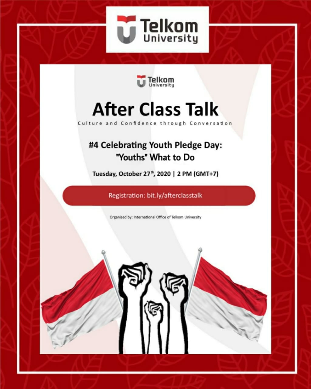Celebrating Youth Pledge Day: 'Youths' What to Do, After Class Talk October Series #4