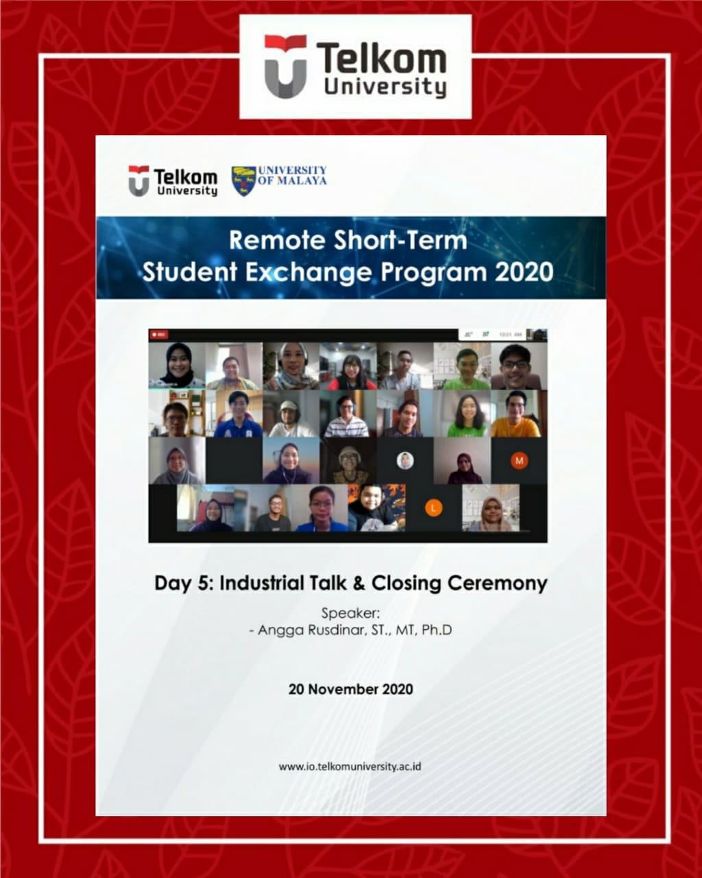 Fun with Engineering Learning in Remote Short-Term Student Exchange Program 2020
