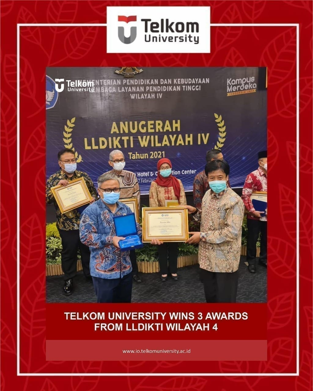 Brilliant Achievement by Telkom University from LLDIKTI Region IV