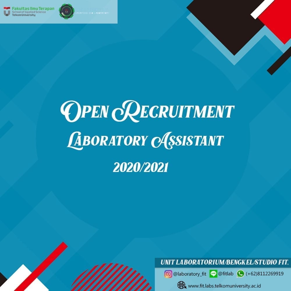 [Extended] Open Recruitment Laboratory Assistant 2020/2021 FIT Telkom University